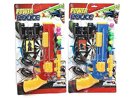 LIBERAONLINE Set Polizei Polizist Pistole Fernglas Zubehör Spiel Spielzeug Geschenk # AG17