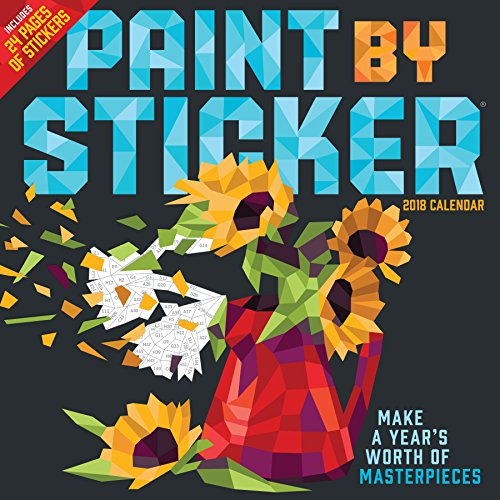 Paint by Sticker 2018 Calendar