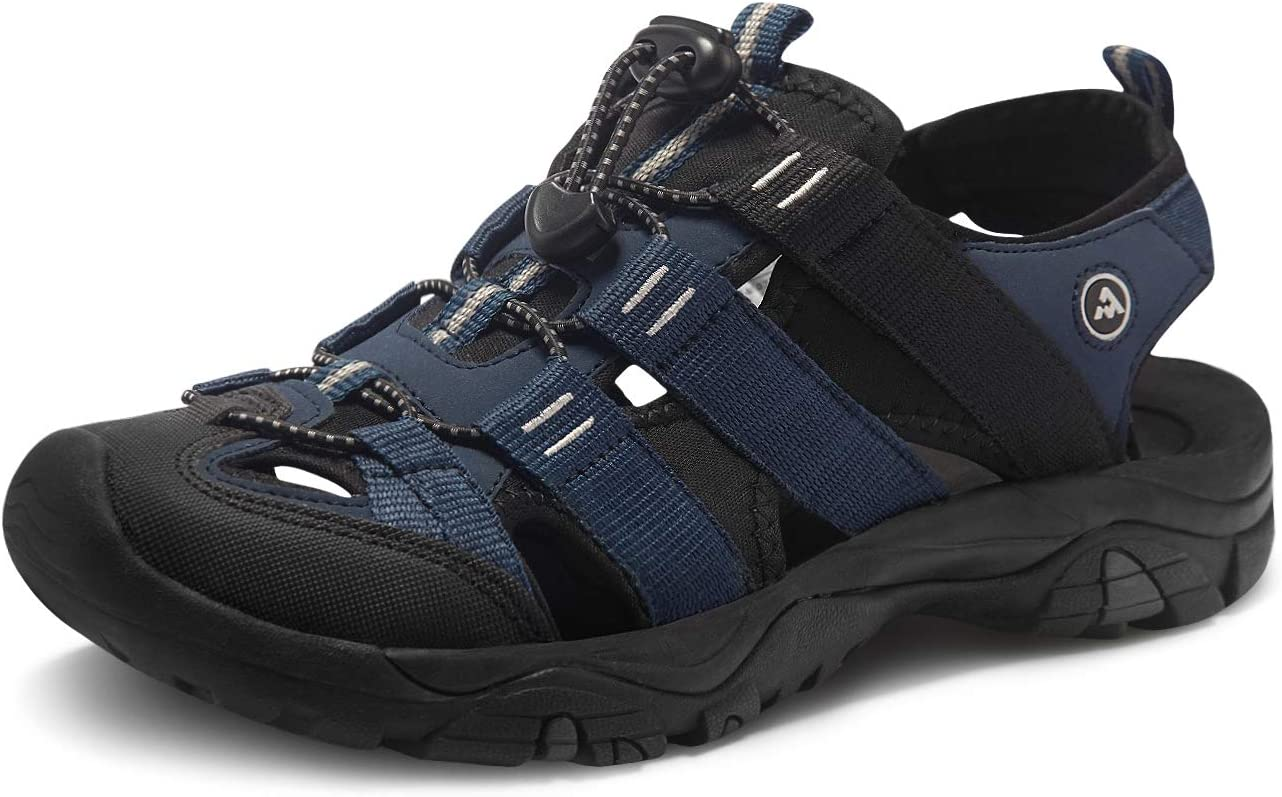 atika Men's Outdoor Hiking Sandals, Closed Toe Athletic Sport Sandals, Lightweight Trail Walking Sandals, Summer Water Shoes: Shoes