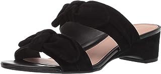 Taryn Rose Women's Nanette Heeled Sandal, black, 9 W W US