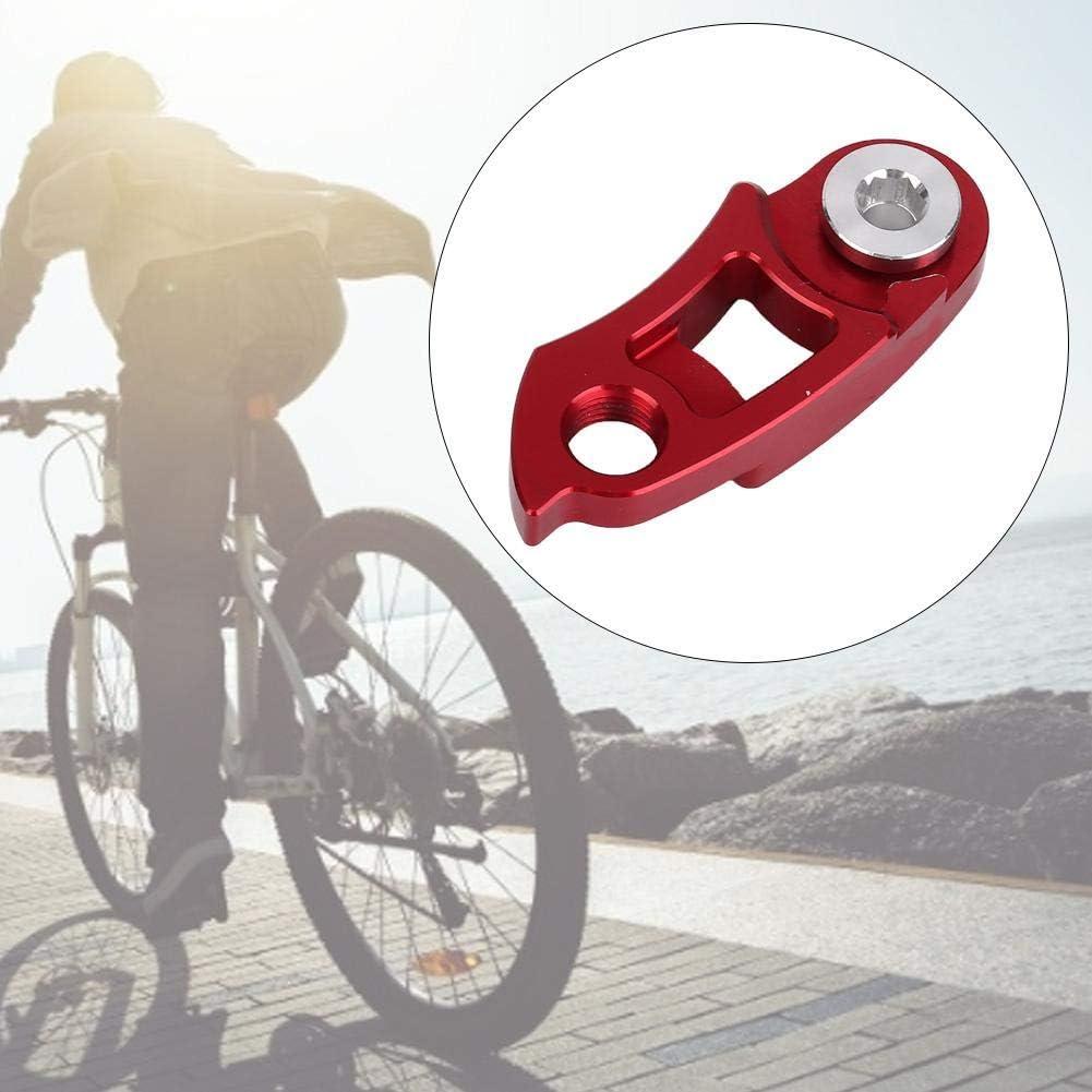 Nikou Bicycle Bike Rear Derailleur Hanger Aluminum Bicycle Rear Derailleur Hanger Extension Frame Gear Tail Hook Extender Blue