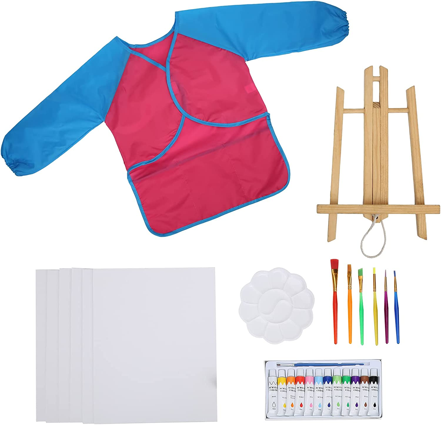 San Francisco Mall DIY Acrylic Paint Set Brushes Smock and Super sale Safe Healthy
