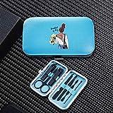 DNAMAZ Manucure Personnalité Girl Portable manucure Voyage Coupe-Ongles Sets Trimmer en Acier Inoxydable Clippers Cutter Ciseaux Accessoires Complet (Color : 8679 Blue)
