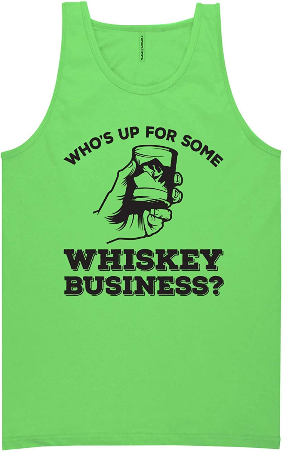 zerogravitee Who's Up for Some Whiskey Business? Neon Tank Top