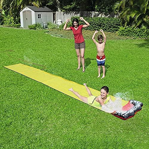 15.7 Pies X 27.3En Surf Surf Surf Slide PVC Verano Juegos De Agua Juguete, Partíficos De Agua del Césped del Patio Al Aire Libre Poolas para Niños Adultos