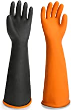Chemical Resistant Rubber Gloves, EnPoint Waterproof Heavy Duty Industrial Natural Latex Safety Work Glove Reusable Hand F...
