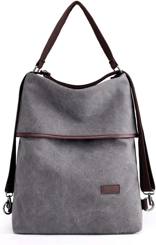 HUYANNABAO Multifunction Canvas Bag Simplified Style Handbag Casual Big Capacity Travel Work Shopping Practical Shoulder Bag