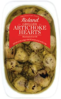 Roland Foods Grilled Artichoke Hearts Marinated in Vinegar and Oil, Specialty Imported Food, 67-Ounce Package