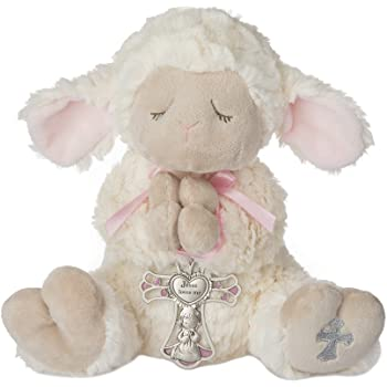 Ganz Serenity Lamb With Crib Cross Christening or Baptism Gift (Pink (Girl))