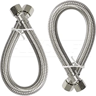 Flexcraft 27912-NL-2 faucet connector, 12 In, Stainless Steel