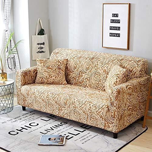 WXQY Funda de sofá elástica, Funda de sofá de Asiento elástica con Todo Incluido, para Muebles de Sala, Funda de sofá en Forma de L con Todo Incluido A22 2 plazas