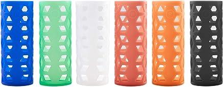 18 oz Glass Bottle Silicone Sleeves for Pratico Kitchen, Epica, Aquasana, Estilo, & Similar Glass Bottles - by Pratico Kitchen