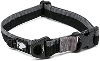 Clumsypets Dog Collar with D-Ring and Buckle, Basic Pet Collar Perfect Match with Leash and Harness - Nylon Webbing Adjustable Martingale Collar for Small Medium Large Dogs