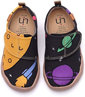 UIN Toddler Baby Little Kid Sneaker Painted Art Microfiber Funny Walking Casual Fashional Shoes Unicorn