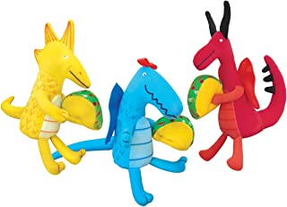 MerryMakers Dragons Love Tacos Mini Doll Set, Set of 3, 4.5 to 5.5-Inches Each