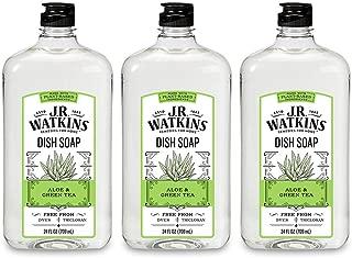 J.R. Watkins Dish Soap, Liquid, 24 fl oz, Aloe & Green Tea (3 pack)