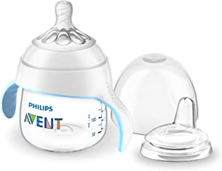 Philips Avent My Natural Trainer Sippy Cup, Clear, 5oz,...