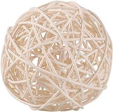 Rotan Ballen, Wilecolly 6 stks Decoratieve Rotan Ballen Ornamenten Bruiloft Kerst Verjaardagsfeestje Decoratie Bruiloft Ac...