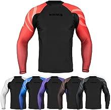 Sanabul Essentials Long Sleeve Compression MMA BJJ Wrestling Cross Training Rash Guard