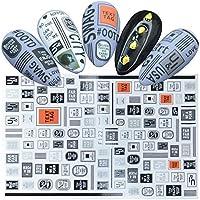 Qjbh1 ネイルステッカースライダーネイルアートタトゥーアップリケ装飾接着剤マニキュア (Color : F122)