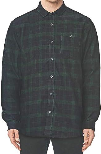 Globe x Drizabone LS Shirt Chemise, Homme, Vert (Dusty Olive)