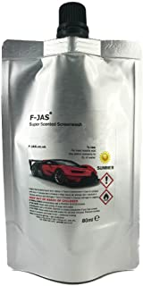F-JAS Super Scented Windshield Washer Fluid (2.7 Fl oz Pouch,Pineapple)