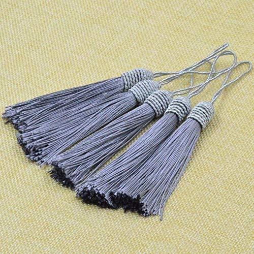 WANM Elegant Jewellery Tassels For Crafts 10PC Screw Thread Hat Tassel For earrings, bracelets, bag, curtain decorations, DIY Keyring Projects Bookmarks Making