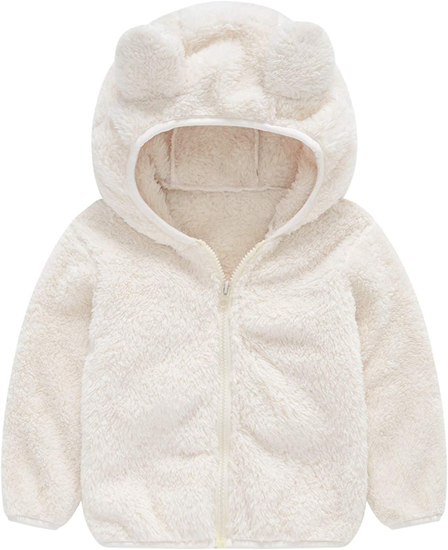 Girls Long Sleeve Faux Fur Rabbit Ear Hooded Outerwear