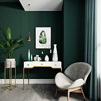 Non Woven Wallpapers Simple Pure Plain Dark Green Emerald Wallpaper Living Room Sofa Background Wall 0 53 10m Weiqi Amazon Co Uk Kitchen Home