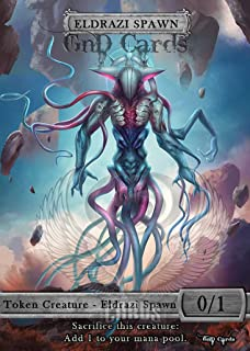 GnD Cards 3X Eldrazi Spawn #2 Tokens Custom Altered MTG Modern Masters