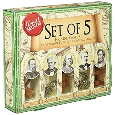 Great Minds Set of 5 Puzzles