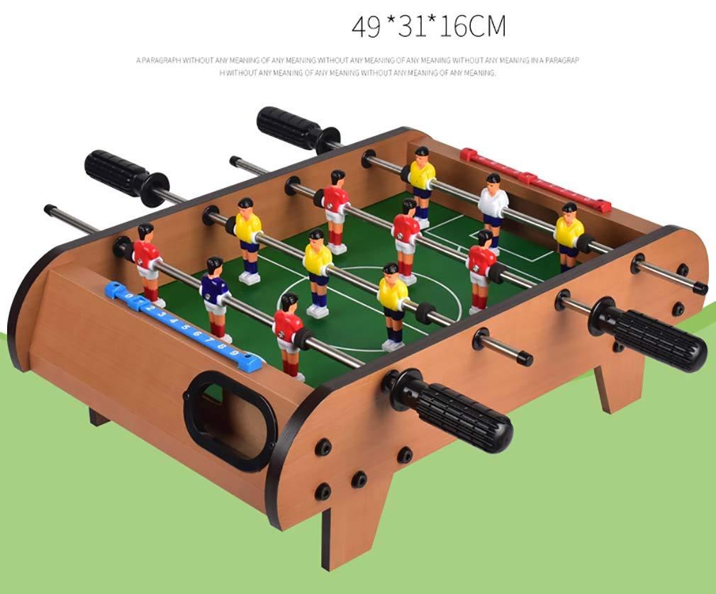 ZHJIUXING ZQ Portátil Futbolín Juego de Mesa de Madera Baby Foot Infantil para Competiciones Individuales o Juegos de Grupo Fútbolista Deporte Patada Champions Regalo para niños: Amazon.es: Deportes y aire libre