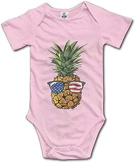 Pineapple Aloha Baby Romper 0-18 Months Newborn Baby Girls Boys Layette Rompers Black