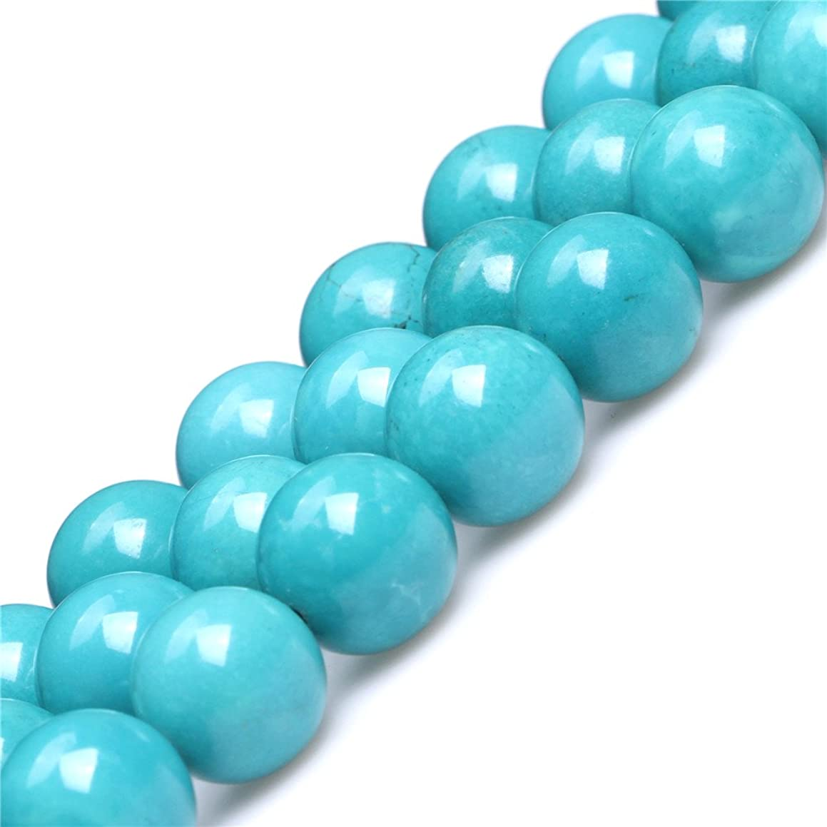 Turquoise Beads for Jewelry Making Gemstone Semi Precious 14mm Round Blue 15