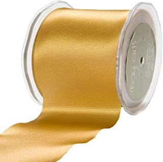 May Arts 2-Inch Wide Ribbon, Gold Satin