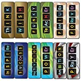 Creanoso Periodic Table Elements Words Chemistry Bookmarks (12-Pack) - Creative Teaching Science Elements Cards for Teachers, Students, Classroom, Homeschooling - Atomic Number, Weight, Symbol, Name
