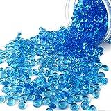 HappyFiller 2600 PCS Sea Blue Fish Bowl Beads Plastic Slushy Balls 0.28 Inch for Slime Making,Floral Decor,Bridal Shower Decorations,Vase Fillers,Home Centerpieces,Candle Display