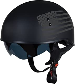 "TORC T55 Spec-Op Half Helmet with 'Flag"" Graphic (Flat Black, XX-Large)"