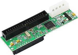 YAODHAOD - Adaptador de Interfaz de Disco Duro SATA Hembra a 40 Pines Macho IDE de 3,5 Pulgadas para PC y Mac SATA F/3.5 M, Big