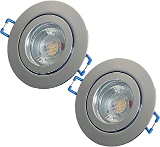 LED Bad Einbauleuchte 230V inkl 1 x 7W LED LM Farbe BiColor IP44 LED Einbaustrahler Neptun Eckig 3000K Deckenspot