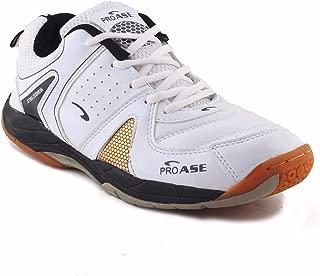 Proase Badminton Shoes, White/Black