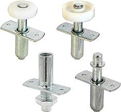Prime-Line N 7535 Kit de reparo de ferragens de porta dobrável, inclui 2 guias de rolo de plástico, 1 pivô superior e 1 pi...