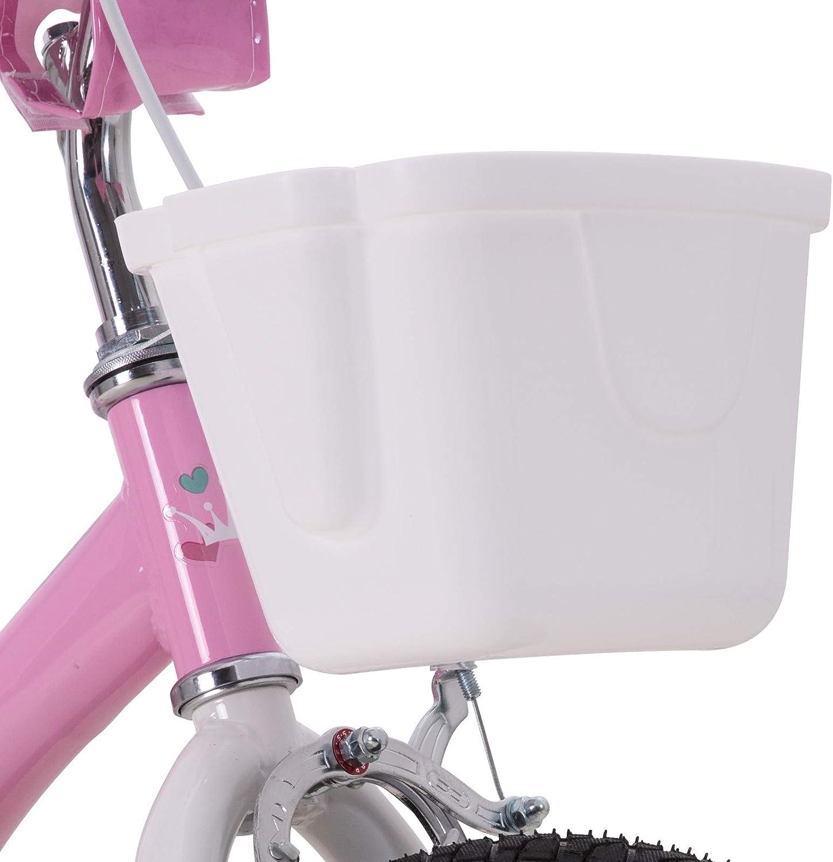cycmoto Unicorn 12 14 16 inch Kids Bike for Boys /& Girls with Training Wheels,18 inch with Kickstand Toddler Bike with Basekt /& Handbrake Blue Pink Purple