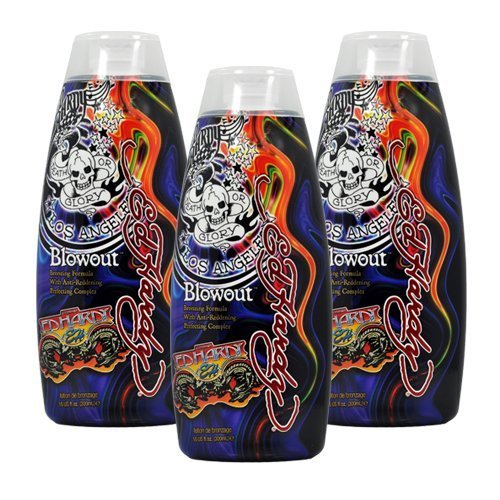 Lot 3 Ed Hardy Blowout Indoor Tanning Lotion Accelerator Bronzer Dark Tan Bed