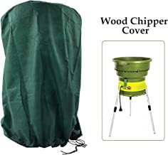 Ecover Dustproof Wood Chipper Cover Electric Leaf Mulcher Cover, D3.3 x H4.1ft Dark Green
