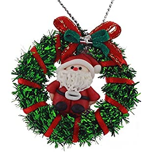 MyTinyWorld Dolls House Miniature Green Christmas Wreath With Father Christmas