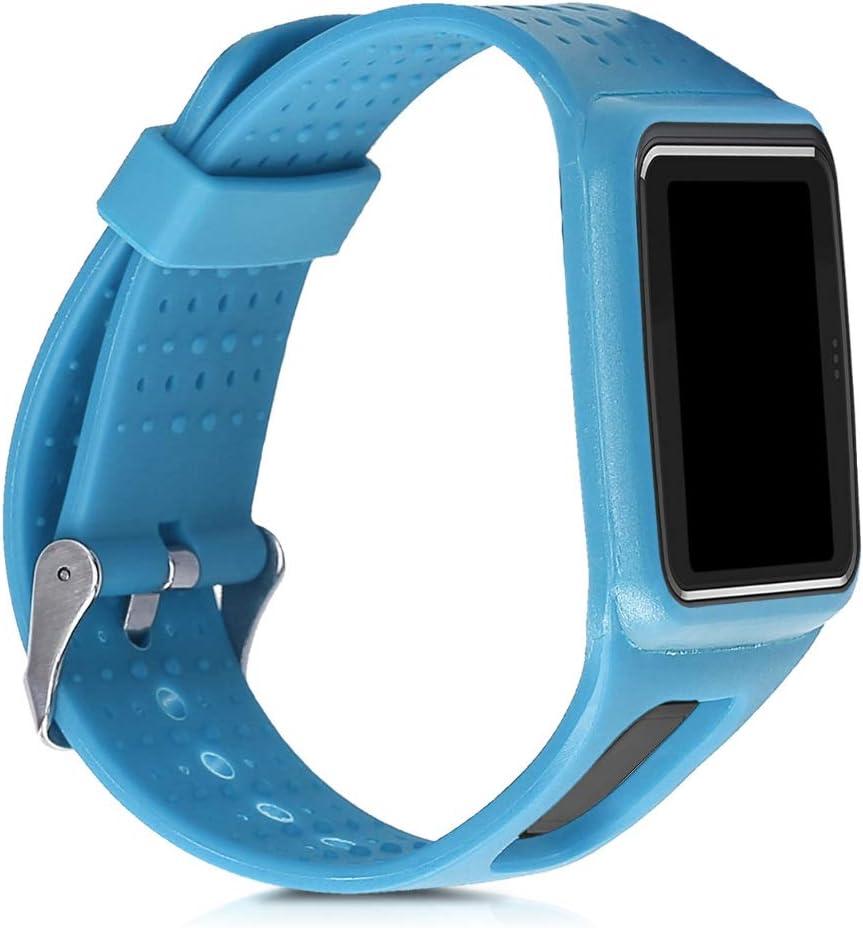 kwmobile Pulsera Compatible con Tomtom Runner 1 / Multi-Sport - Correa para Reloj Inteligente Silicona TPU Azul Claro