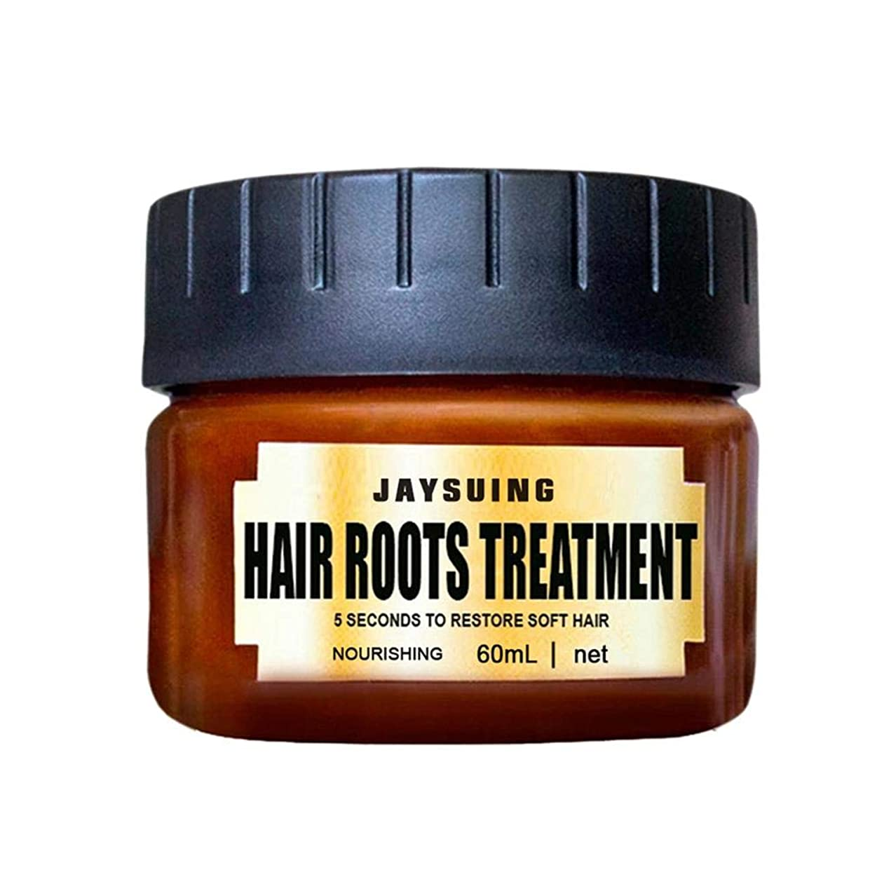 役立つ現象全部bulorrow  ヘアマスクルーツディープコンディショナーコンディショナー60ml復元乾燥した傷んだ髪のためのソフトヘアヘアリペアトリートメント弾力性のある髪を回復します。