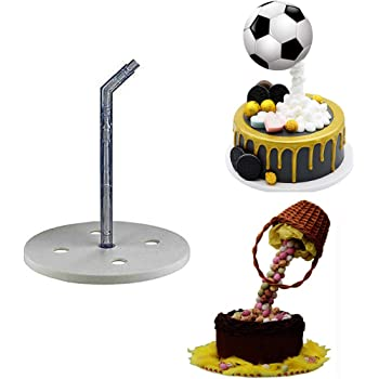 BUSOHA Cake Support Structure Frame Anti Gravity Cake Pouring Kit for Birthday/Wedding/Anniversary Party Reusable Standing Cake Decorating Armature Frame