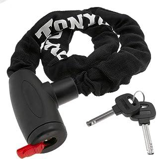 comprar comparacion PrimeMatik - Cadena antirrobo de Acero con candado para Bicicleta de 19x900 mm con Llave de Seguridad